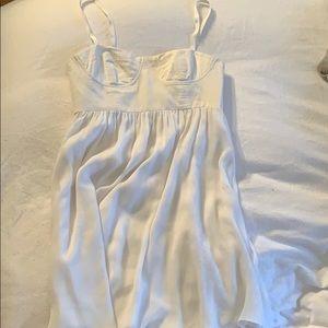 Alice + Olivia Brenda Draped Mini White Dress